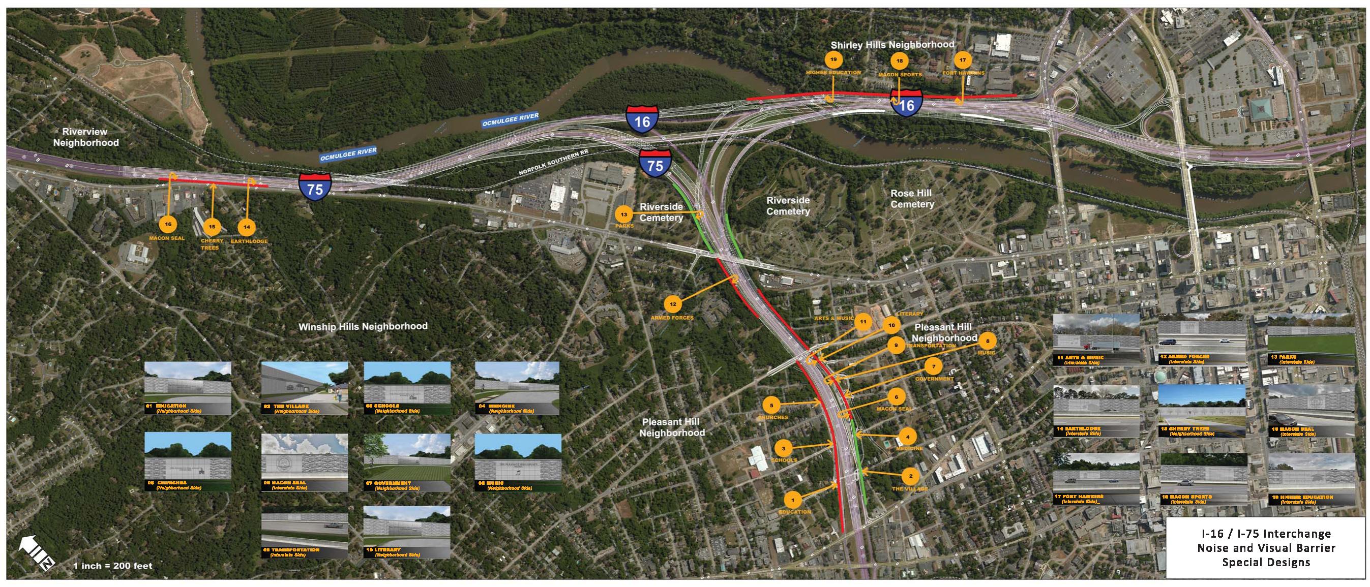 II Improvement Project - Georgia map i 75